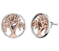 Paar Ohrstecker 'Indian Summer Lebensbaum Ere-Liltree-Bicor' silber