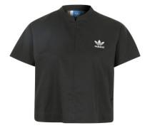 Blusenshirt mit angeschnittenen Ärmeln schwarz / weiß