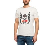 T-Shirt mit Frontaufdruck eierschale
