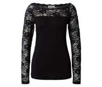 Shirt 'Lacy' schwarz