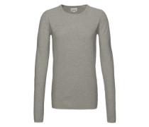 Longsleeve 'Basic pearl knit' grau