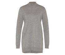 Long-Pullover mit Kaschmir-Anteil grau