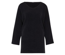 'Corduroy' Oversized Pullover schwarz
