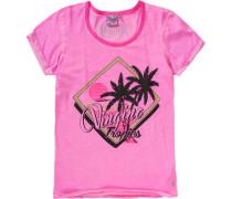T-Shirt für Mädchen pink / schwarz