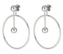 Ohrring mit geometrischen Formen silber