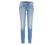 'Pixie Flick' Skinny Jeans blue denim