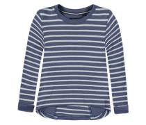 Sweatshirt langärmlig marine / weiß