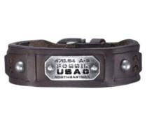 Armband 'JF 86562' dunkelbraun / silber