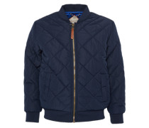 Bomberjacke 'sporty quilted bomberjacket' navy