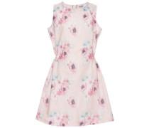 Nitnulle limited Kleid mit kurzen Ärmeln hellblau / altrosa / pinkmeliert