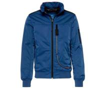 Blouson-Jacke blau / schwarz