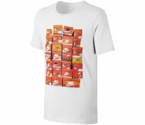Rundhalsshirt 'men NSW TEE Vintage Shoebox' orange / weiß
