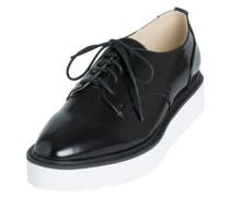 Schuhe Glänzend schwarz / weiß
