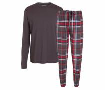 Pyjama braun / rot