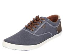 Flacher Stoff-Sneaker navy