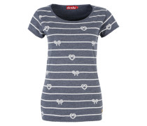 T-Shirt mit Print 'Rope Allover' navy