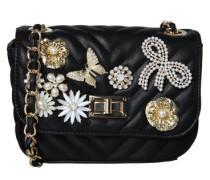 Handtasche 'Achira' gold / schwarz / weiß
