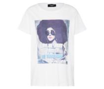 T-Shirt 'herm' mischfarben / weiß
