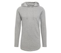 Sweater 'Long Shaped Terry Hoody' grau