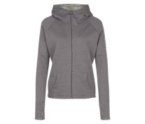 BENCH Sweatjacke 'Highlight' grau