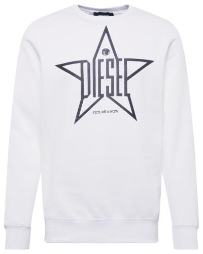 Sweatshirt 's-Gir-Ya' schwarz / weiß