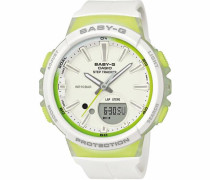 'Baby-G' Chronograph 'bgs-100-7A2Er' limette / weiß