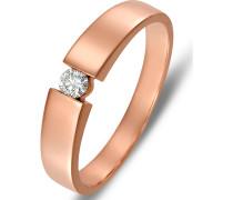 Diamonds Damen-Damenring 375er Rotgold 1 Diamant ' '