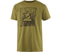 Zimtstern TSM Scribbler Printshirt Herren grün