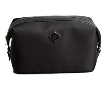 Tasche Leder-/Nylon- schwarz