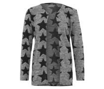 Cardigan 'Onlelcos' im All-Over-Muster dunkelgrau / schwarz