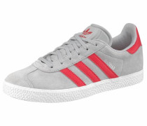 Sneaker 'Gazelle Junior' grau / rot