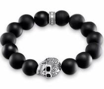 Armband 'Totenkopf' schwarz / silber
