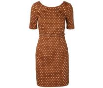 Feminines Kleid mit kurzen Ärmeln braun