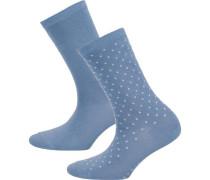 Socken rauchblau / weiß