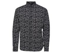 Langarmhemd Bedrucktes schwarz