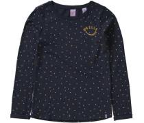 Langarmshirt für Mädchen ultramarinblau