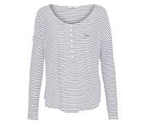 Langarmshirt 'elewo' schwarz / weiß
