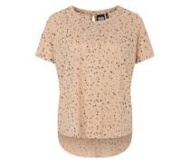 Printshirt aus Ausbrennerjersey beige