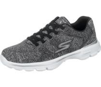Sneakers 'Go Walk 3-Stretch' dunkelgrau / schwarz / weiß