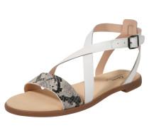 Sandale 'Bay Rosie' weiß / grau