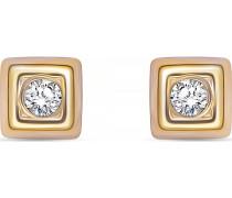 Ohrstecker gold / rosegold / transparent
