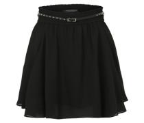 Minirock mit Nietengürtel schwarz
