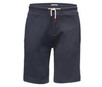 Shorts aus meliertem Sweat dunkelblau