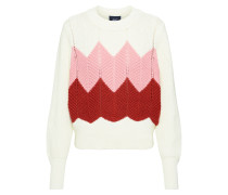 Pullover 'objmiriam' rosa / weiß