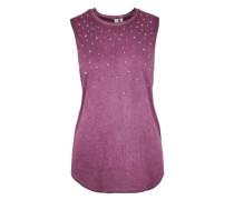 Garment Dye-Top mit Sternchen lila