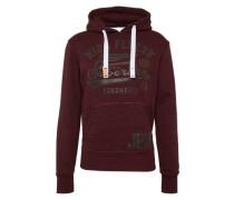 Sweatshirt 'high Flyers Hood' weinrot