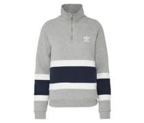 Sweater 'halfzip' graumeliert