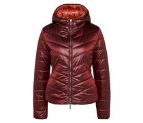 Glänzende Winterjacke 'Otarra3' rostbraun / weinrot