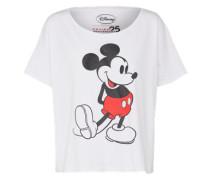 T-Shirt 'Classy Micky' weiß
