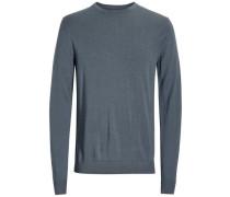 Merinowoll-Pullover taubenblau